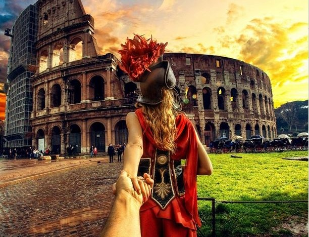 Follow Me Murad Osmann on Instagram Roman Colosseum Rome Italy