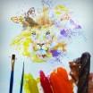 عراقي يستخدم ايس كريم سائل ليرسم لوحاته