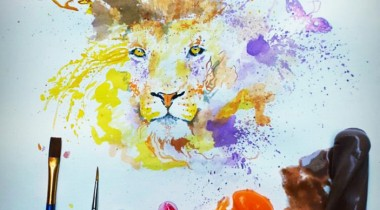 Ice Cream Paint Othman Toma Colorful Lion illustration