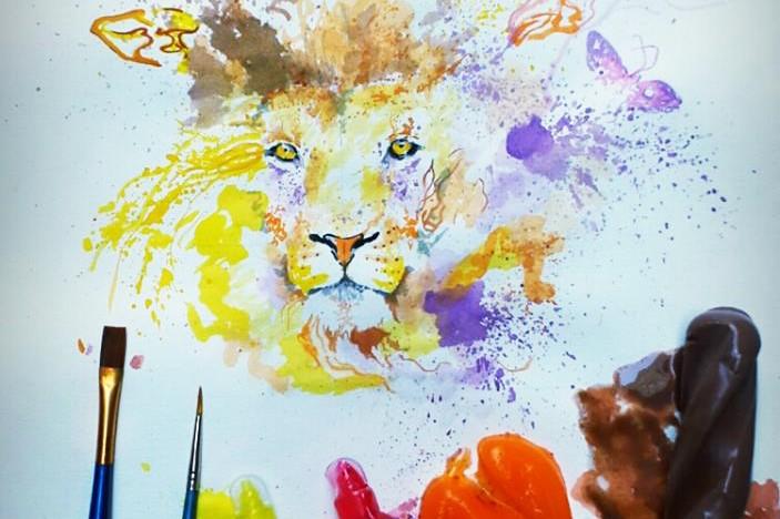 Ice Cream Paint Othman Toma Colorful Lion illustration