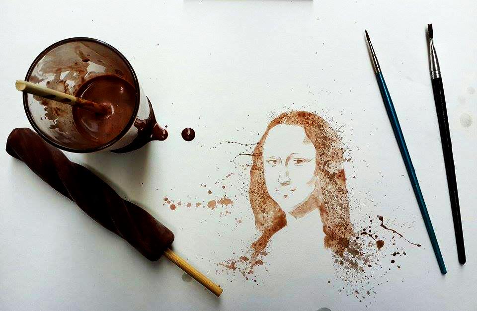 Ice Cream Paint Othman Toma Mona Lisa Da Vinci