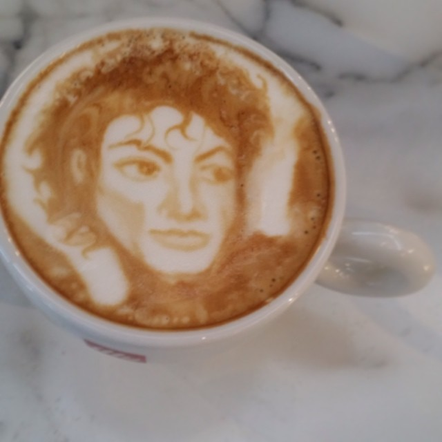 Coffee Art Selfie Michael Breach Michael Jackson