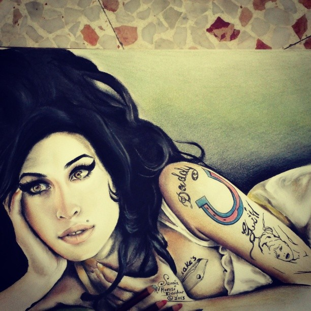 Samia Dagher illustration Amy winehouse
