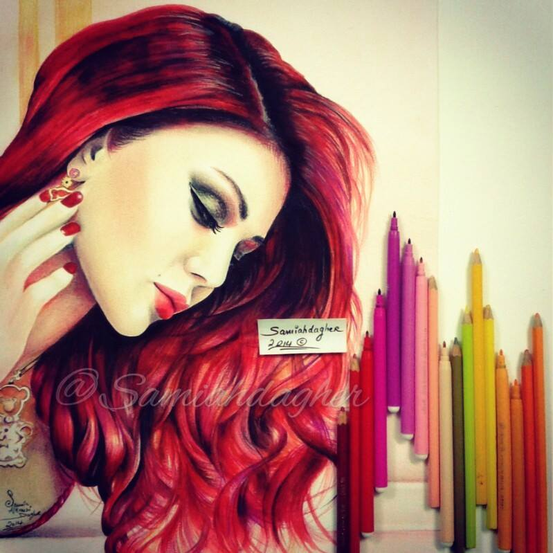 samia dagher illustration Haifa wehbe