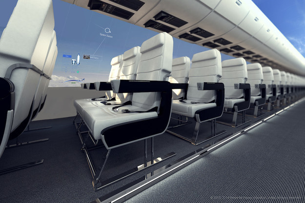 window less plane with Oled screens 2